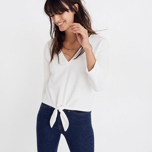 Madewell front Wrap Top